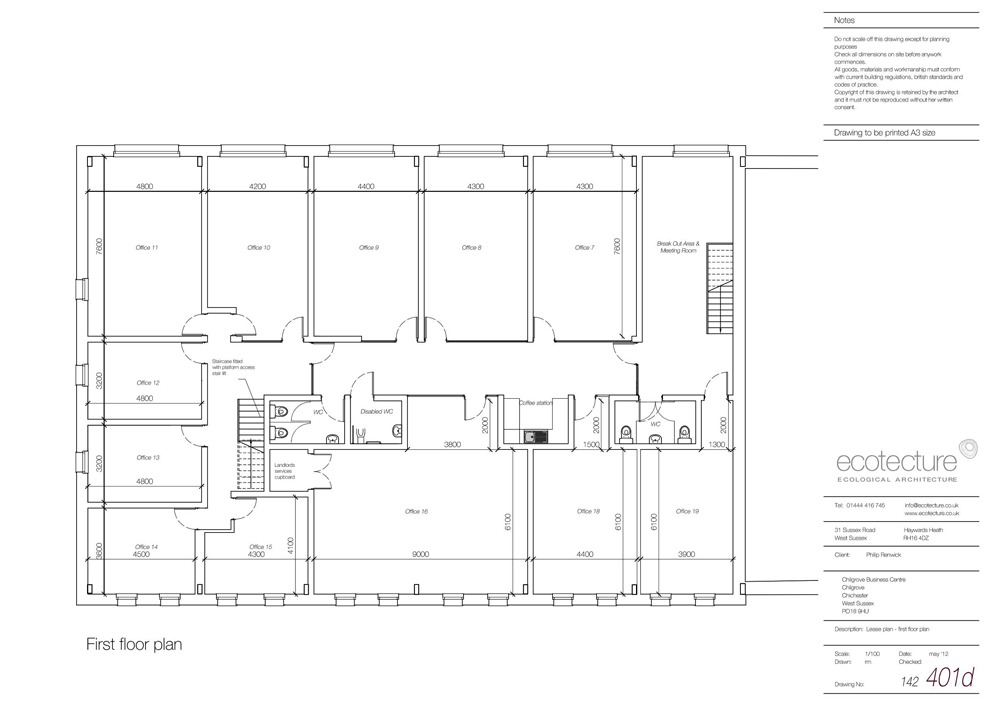 Chilgrove business centre business offices to let west for Small business floor plan